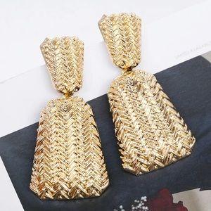 Jewelry - Large bohemian gold earrings.